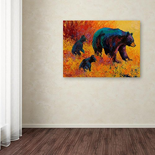Double Trouble Black Bear by Marion Rose, 18×24-Inch Canvas Wall Art
