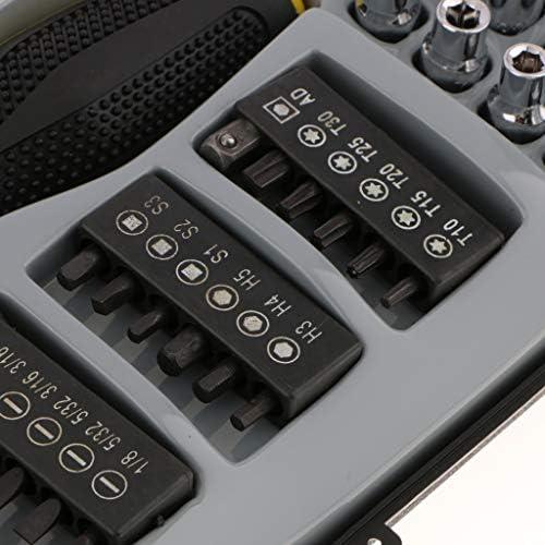修理工具セット(35個) 六角ソケットレンチ ラチェット 多種ヘッド付き 収納ケース付き