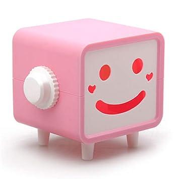 Joeesun Cara sonriente linda Caja de pañuelos de plástico Aseo Baño Cuarto de baño Contenedor de papel decorativo Kleenex Caja Servilletero: Amazon.es: ...