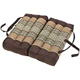 Foldable Meditation Cushion filling 100% Kapok (earthtones)