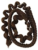 Mehron Makeup Costume Crepe Hair 12-inch Braid (Medium Brown)