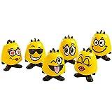 Emoji Goof Balms - Natural Kids Lip Balm + Moisturizing & Repair + Helps Prevent Cracked Lips + Strawberry Sorbet Chapstick + Fun Party Supplies + (6 Pack)