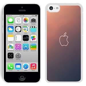 NEW Unique Custom Designed iPhone 5C Phone Case With Simple Gradient Apple Logo Outline_White Phone Case