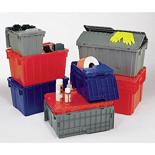 Orbis Grey Plastic FliPak Stack-N-Nest Storage Tote with Lid - 27