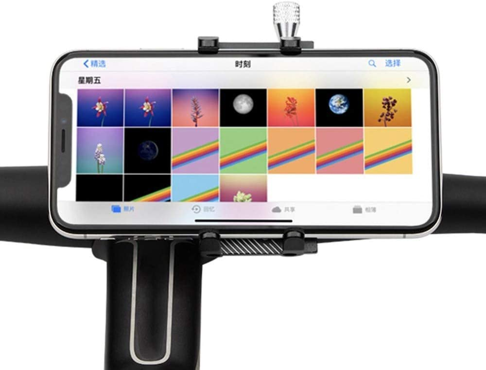Color : Black Bicycle Phone Holder for iPhone Samsung Universal Mobile Cell Phone Holder Bike Handlebar Clip Stand GPS Mount Bracket Mobile Phone Holder AICH Cell Phone Stand