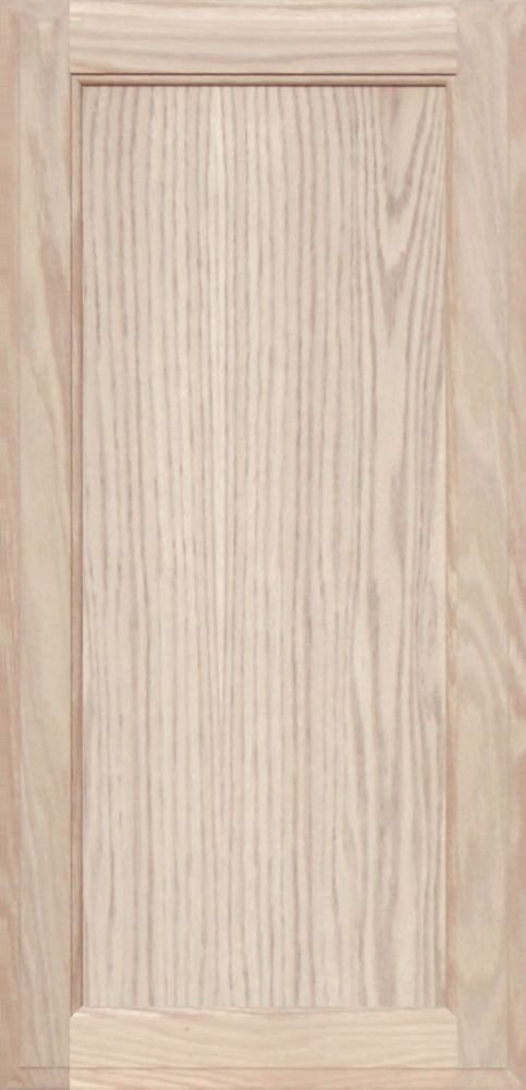 Unfinished Oak Square Flat Panel Cabinet Door by Kendor 29H x 14W