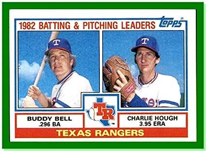 1983 Topps 412 Texas Rangers Unmarked Team Checklist Buddy
