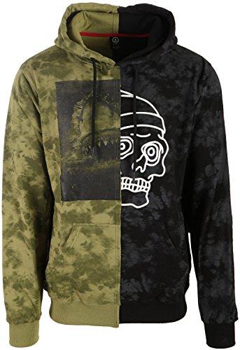 Neff Dye - neff Men's Face Off Sweatshirts and Hoodies, Multi Color, Large