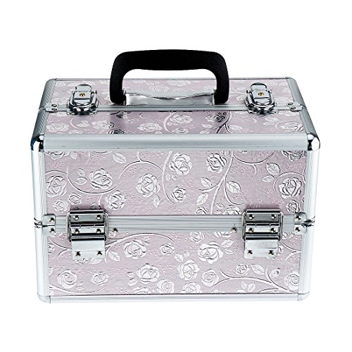 FXTXYMX Makeup Train Cases Professional Large Make Up Boxes