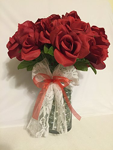 Beautiful Red Rose Bouquet Flower Pens -