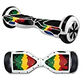 MightySkins Protective Vinyl Skin Decal for Hover Board Self Balancing Scooter mini 2 wheel x1 razor wrap cover sticker Rasta Flag