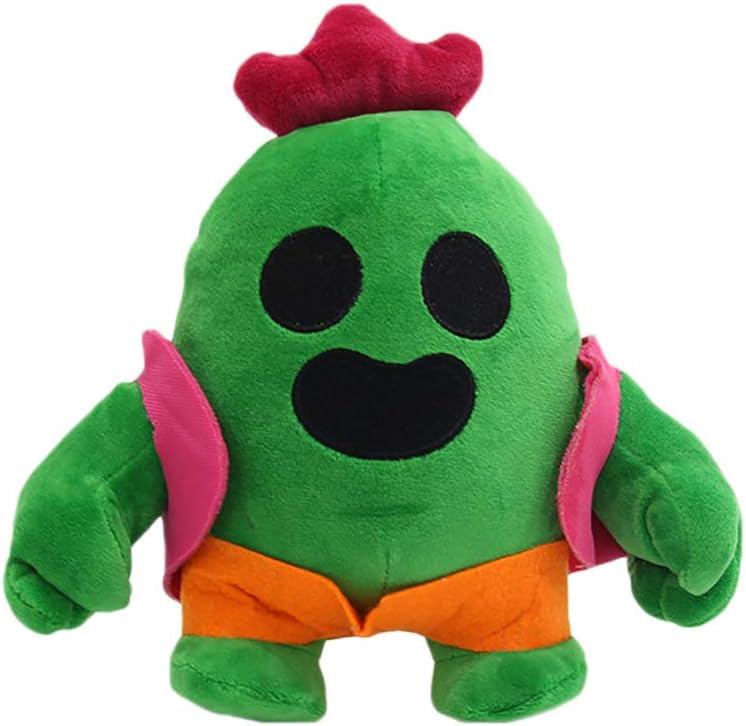 ADIUMA Woqook 20cm Cactus Plush Doll Cactus para niños Juguete de Peluche Anime Juego Spike Modelo