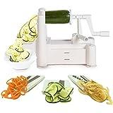 Spiralizer Tri-Blade Vegetable Slicer, Strongest-and-Heaviest Duty, Best Veggie Pasta & Spaghetti Maker