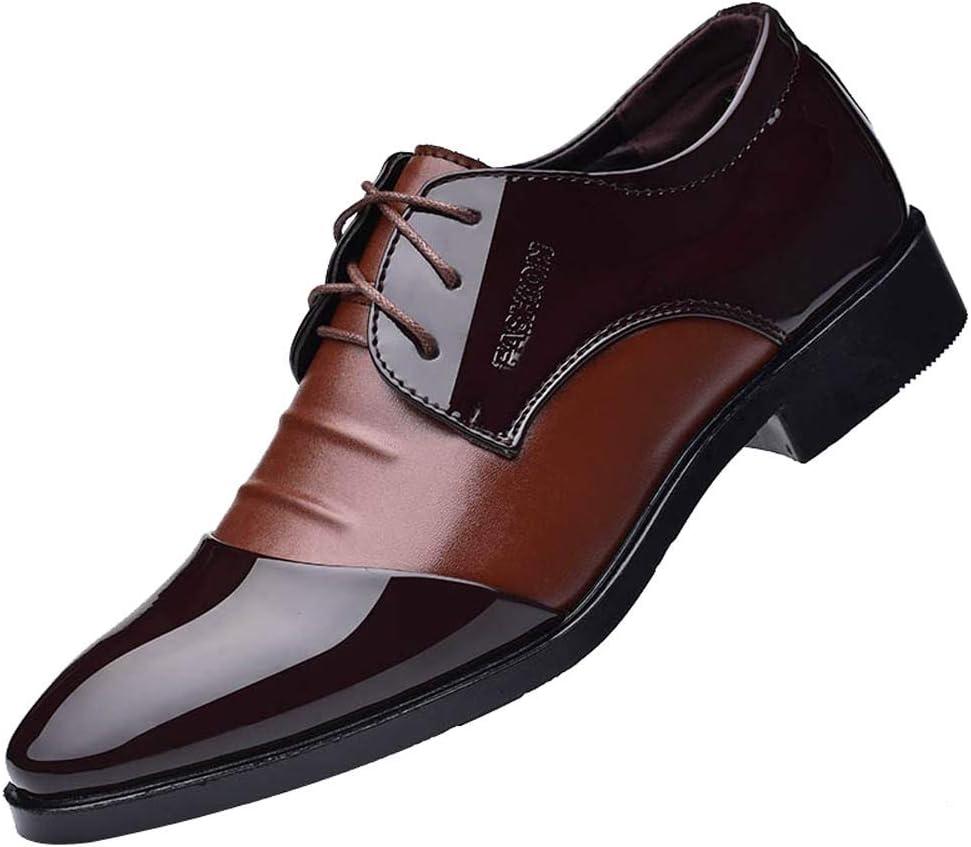 LuckyGirls Zapatillas de Cuero Trajes Negocio Patchwork Casual Moderno Calzado Zapatos con Cordones Bambas Zapatos de Noche Boda de Las Hombres: Amazon.es: Deportes y aire libre