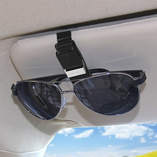 Sunglasses Clips for Car Visor, Sunglasses Holder for Car Visor Glasses Visor Clip, Car Sunglasses Clip for Two - Sunglasses Owner The