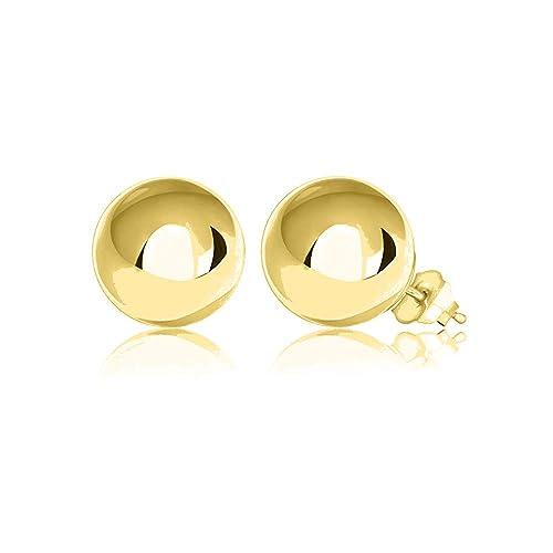 a156b0871 Amazon.com: Verona Jewelers Womens Sterling Silver Post Ball Stud Earrings- Bead  Ball Stud Earrings for Women 2-12MM (9) (Gold, 10): Jewelry