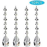 Pendants-Wenmeili Teardrop Chandelier Crystal Pendants Glass Pendants Beads( Pack of 10)