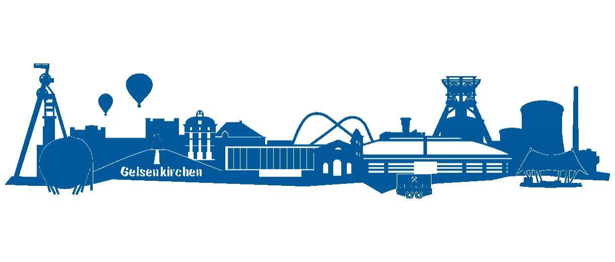 Samunshi® Wandtattoo Gelsenkirchen Skyline Schalke Schalke Schalke in 6 Größen und 19 Farben (150x33cm königsblau) B004TFXDE2 Wandtattoos & Wandbilder aad073