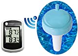 Ambient Weather WS-342 Wireless Thermometer with Indoor Temperature and Floating Pool and Spa Thermometer
