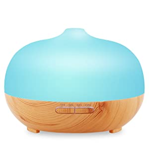 URPOWER® Frosted Glass Exterior Ultrasonic Diffuser Humidifier