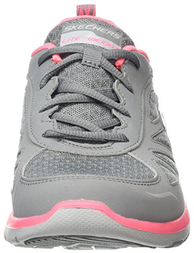 Laufschuhe Coral Galaxies Grey Skechers Enigma Grau Damen HxTwtnqCS