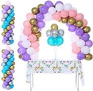 Party Zealot Kit de columna, soporte y arco de mesa para globos, base y poste de 1.52 m de altura, para baby s