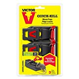 Victor M140S3 Quick Kill Mouse Trap (3 Pack)