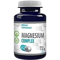 Magnesium Complex L-Threonaat, Bisglycinaat, Tauraat 2000mg per portie 120 Vegan Capsules, Certificaat van Analyse door…