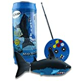 VGAzer Mini Radio Remote Control Rechargeable Funny Cute Shark Swim in Water RC Fish Electronic Toy for Kids (Black)