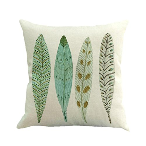 soft feather painting linen cushion