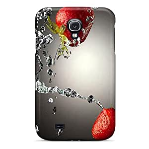 Premium Durable Water Strawberries Fashion Tpu Galaxy S4 Protective Case Cover