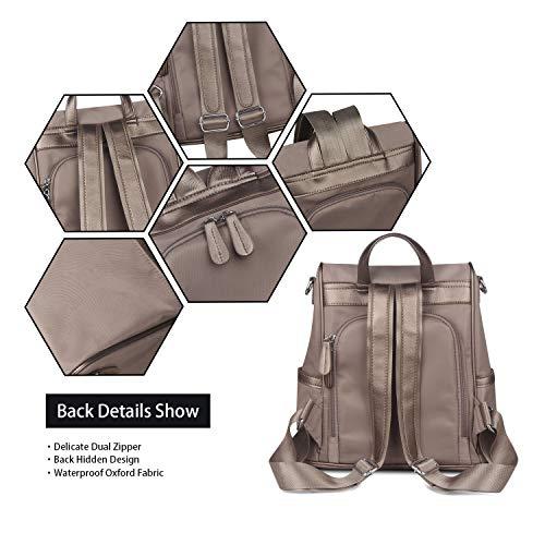 School ZZSY Anti theft Oxford Backpack Purse Rucksack Shoulder Bag Lightweight Khaki Women qq781