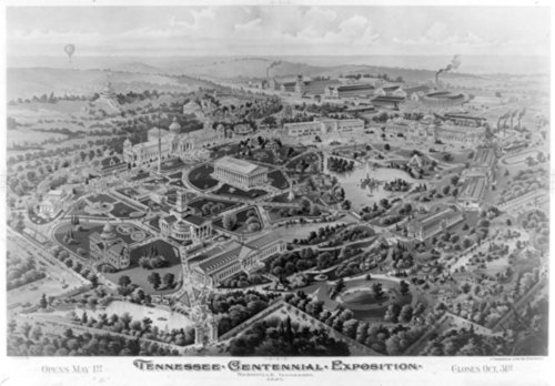 Photograph: Henderson Litho. Co., Tennessee Cent. Exposition Centennial celebrations Tennessee Nashville 1890-1900. c1896.