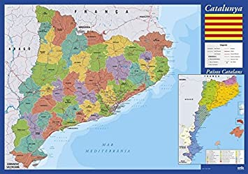 Grupo Erik Editores Vade Escolar Mapa De Cataluña (Editado en Catalán): Amazon.es: Oficina y papelería