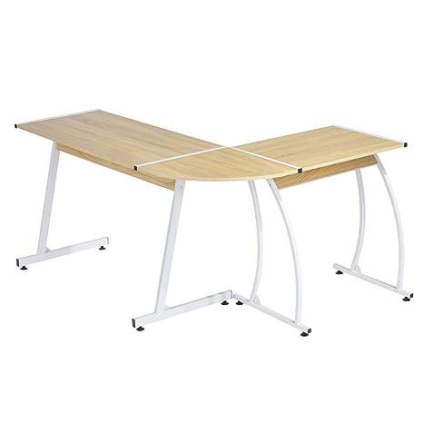 FurnitureR UK Ordenador Escritorio Muebles R Modern L Forma de ...