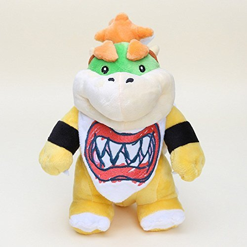 Super Mario Bros Plush 7.8 Inch / 20cm Bowser Jr. Standing Koopa Doll Stuffed Animals Figure Soft Anime Collection Toy