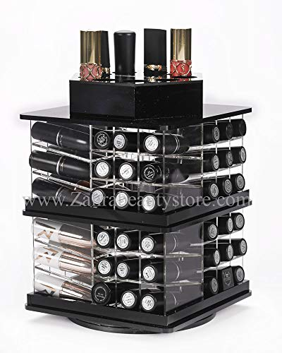 - Zahra Beauty Spinning Lipstick Tower- Black- The Best Lipstick Holder- Holds 81 Lipsticks