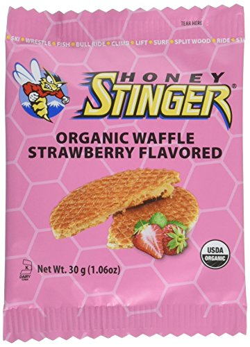 (Honey Stinger Organic Waffle, Strawberry, Sports Nutrition, 1.06 Ounce (16 Count))