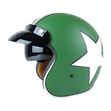 Amazon.es: Retro Harley Motocicleta Casco Hombres 3/4 Retro ...