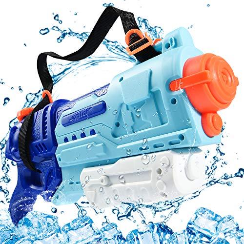 Joyjoz 水鉄砲 最強 ウォーターガン 超強力飛距離 10-12m 水てっぽう1500ML超大水容量 プール 水ピストル おもちゃ 水遊び 水撃ショット