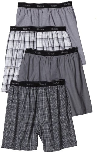 hanes-mens-classic-comfort-flex-waistband-woven-boxers-underwear-assorted-plaids-medium-pack-of-4