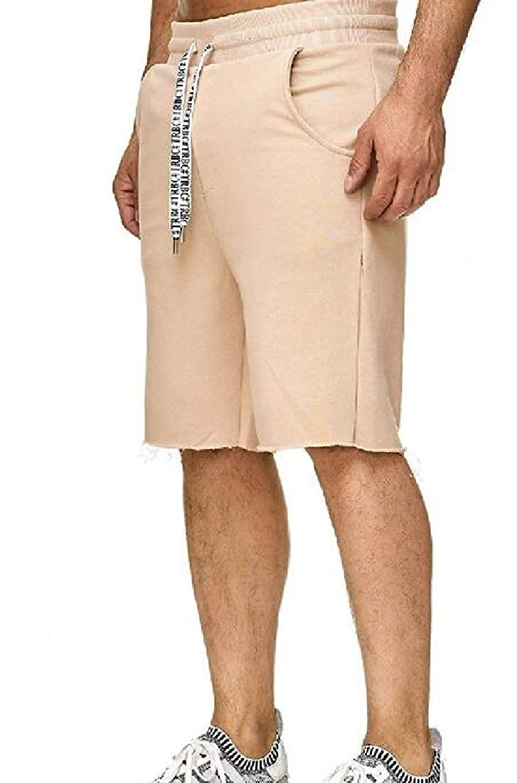 X-Future Mens Drawstring Running Classic Beach Athletic Elastic Waist Shorts