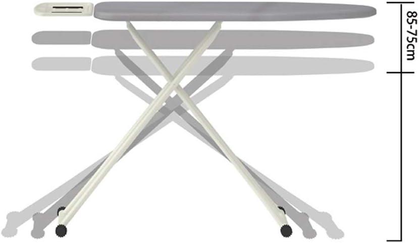 La planche à repasser est renforcé et plié à usage domestique, le repassage Rack est facile à ranger, et la hauteur peut être ajustée (Color : Light blue) Dark Grey