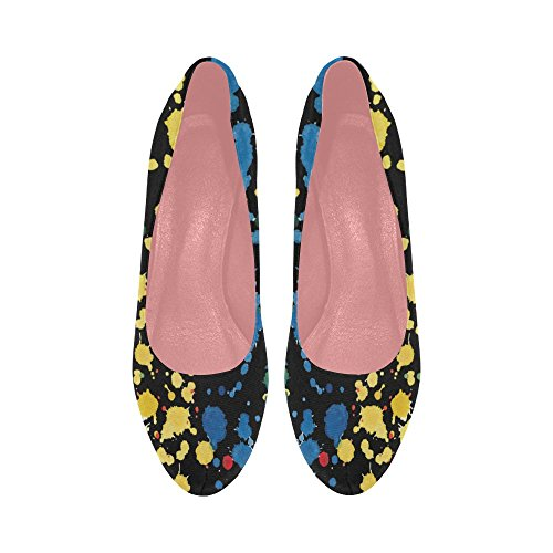 Women Colorful Color10 Shoes Graffiti Heel Wedge Pump 5 Pattern Size Flowers InterestPrint 11 High Constellation 6aSYdwaq
