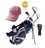 Paragon Rising Star Girls Kids Golf Clubs Set / Ages 8-10 Lavender With Free Golf Gift / Left-Hand