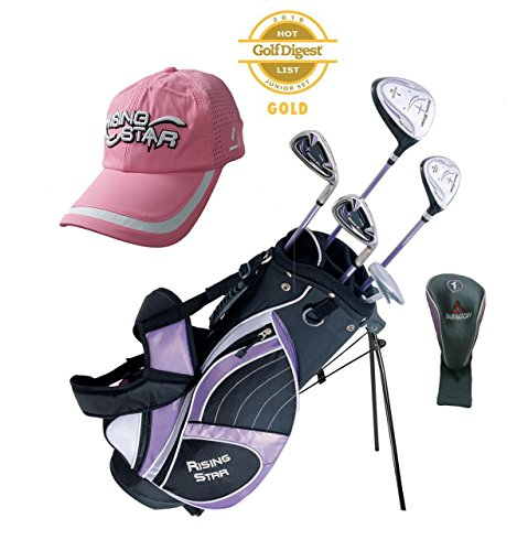 Paragon Rising Star Girls Kids Golf Clubs Set / Ages 8-10 Lavender With Free Golf Gift / Right-Hand