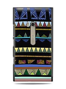 "GRÜV Premium Case - ""Abstract Aztec Tribal Art"" Design - Best Quality Designer Print on Black Hard Cover - for Nokia Lumia 900"