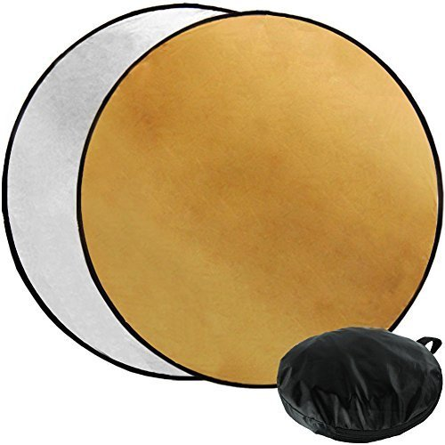 Julius Studio 43'' Photography Photo Video Studio Lighting Disc Oval Reflector, 2-in-1, 2 Colors, Gold, Silver, JGG2423 by Julius Studio