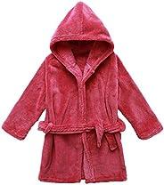 Yanzi6 Unisex-Baby Winter Soft Soft Coral Fleece Flush Hooded Bath Robe