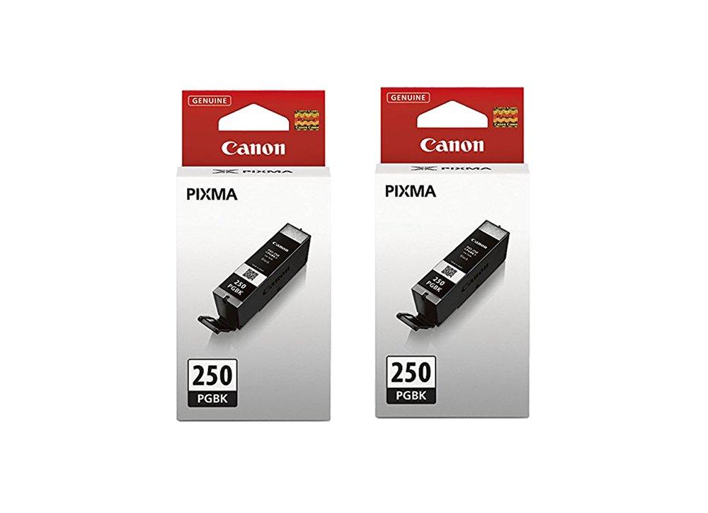 Canon Ink aWqah Tank, Compatible to MG5520, MG6620, MG5420, MG5422, MG5522, MG5620, MG6320, MG6420, MG7120, MG7520, MX722, MX922, iP7220, iP8720, and iX6820, PGI-250 PGBK (2 Pack)